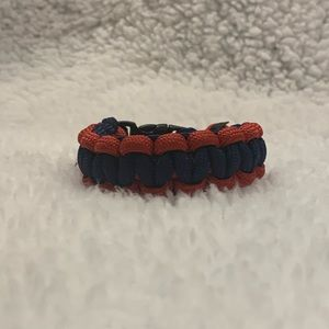 Handmade Navy and Red Paracord Bracelet
